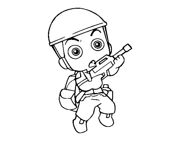 Coloriage de soldat militaire pour colorier - Dessin de soldat ...