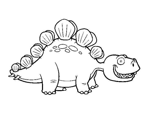 Coloriage De Stegosaure Pour Colorier Coloritou Com