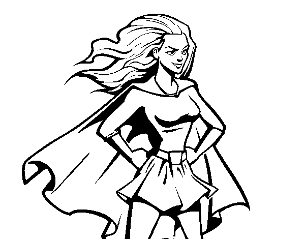 Coloriage de Super girl pour Colorier