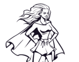<span class='hidden-xs'>Coloriage de </span>Super girl à colorier