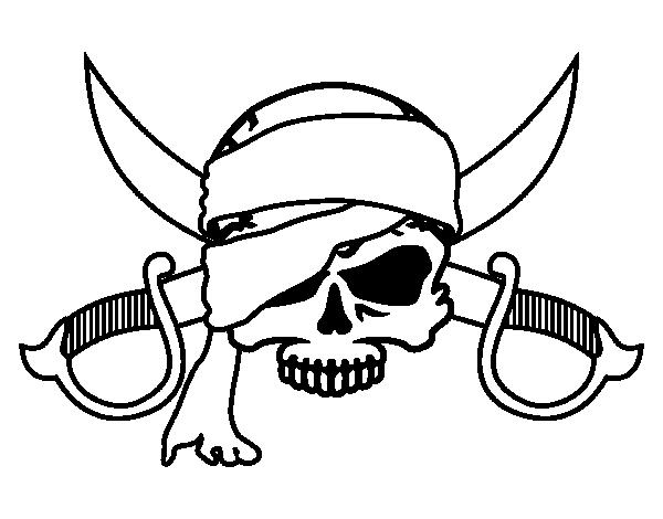 Coloriage De Cochon Pirate.Coloriage De Symbole Pirate Pour Colorier Coloritou Com