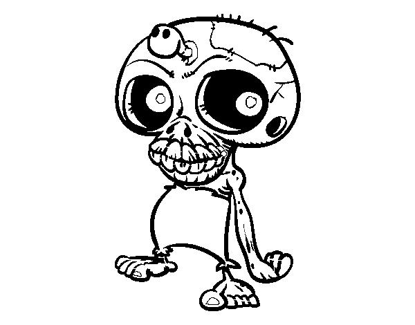 Coloriage De Tête De Mort Zombie Pour Colorier Coloritoucom