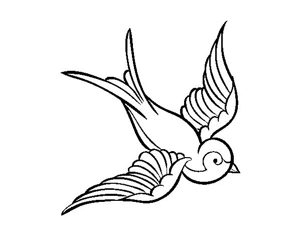 Coloriage De Tatouage D Oiseau Pour Colorier Coloritou Com