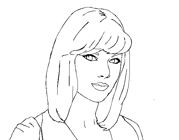 Coloriage de Taylor Swift pour Colorier