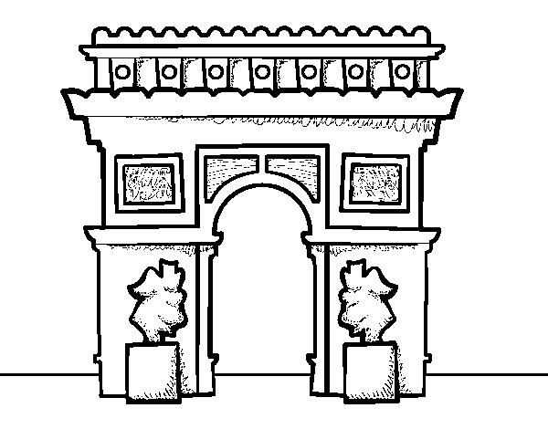 Coloriage De Un Arc De Triomphe Pour Colorier Coloritoucom