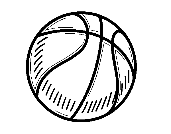 Coloriage de Un ballon de basket-ball pour Colorier