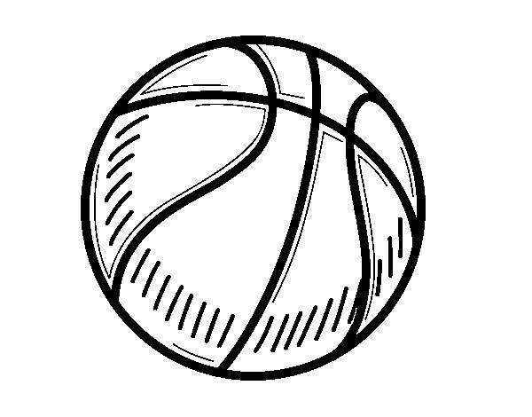 Ballon Pour Coloriage.Coloriage De Un Ballon De Basket Ball Pour Colorier Coloritou Com