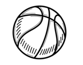 <span class='hidden-xs'>Coloriage de </span>Un ballon de basket-ball à colorier