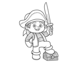 <span class='hidden-xs'>Coloriage de </span>Un garçon de pirate à colorier