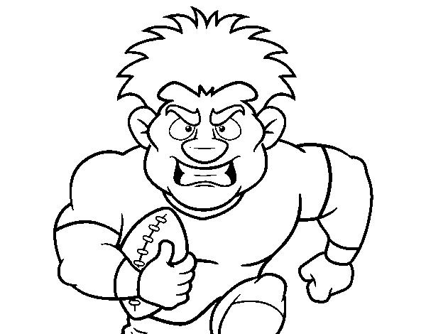Coloriage de un joueur de football am ricain pour colorier - Dessin football americain ...