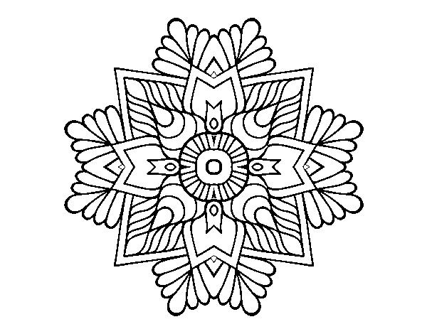 Coloriage de un mandala de mosa que pour colorier - Colorier un mandala ...