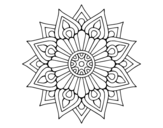 <span class='hidden-xs'>Coloriage de </span>Un mandala flash floral à colorier