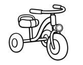<span class='hidden-xs'>Coloriage de </span>Un tricycle pour enfants à colorier