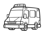 <span class='hidden-xs'>Coloriage de </span>Une ambulance à colorier