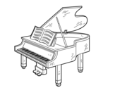 <span class='hidden-xs'>Coloriage de </span>une grand piano ouvert à colorier