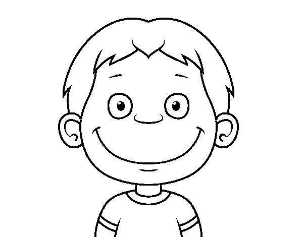 Coloriage En Ligne Visage.Coloriage De Visage De Petit Enfant Pour Colorier