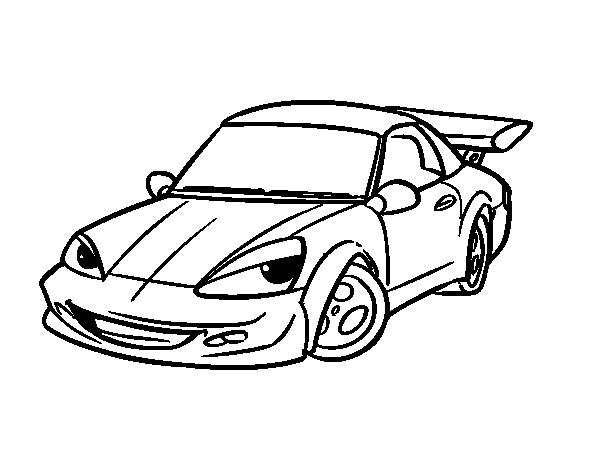 voiture de sport avec aileron