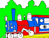 Coloriage Locomotive colorié par akim