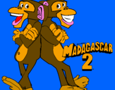 Coloriage Madagascar 2 Manson et Phil 2 colorié par anthony
