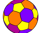 Coloriage Ballon de football II colorié par grominet