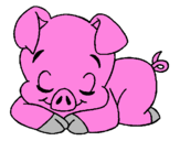 Coloriage Cochon colorié par FLAVIE BARATON