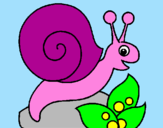 Coloriage Escargot colorié par NATIS