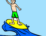 Coloriage Surf colorié par léo