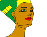 Coloriage Buste de Néfertiti colorié par WARMER 41