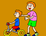 Coloriage Tricycle colorié par Anthony