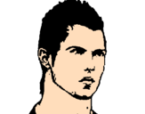 Coloriage CR7 colorié par steevy