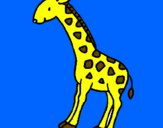 Coloriage Girafe colorié par so