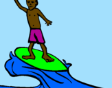 Coloriage Surf colorié par yetu