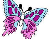 Coloriage Papillon colorié par céliane