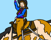 Coloriage Cow-girl colorié par australia