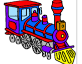 Coloriage Train colorié par tren