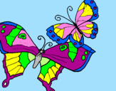 Coloriage Papillon colorié par angela