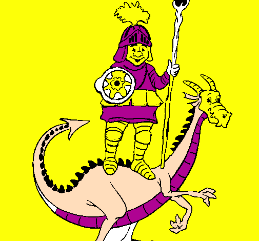 Chevalier Saint Georges et le dragon
