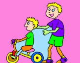 Coloriage Tricycle colorié par celine