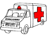 Coloriage Ambulance colorié par Nahim