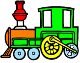 Coloriage Train colorié par Nathan