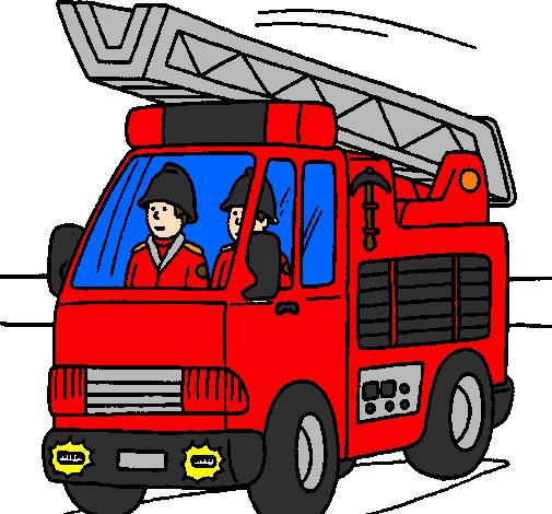 Dessin De Voiture De Pompiers Colorie Par Membre Non Inscrit Le 09