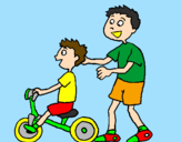 Coloriage Tricycle colorié par maria clara 4 anos MS