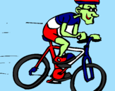 Coloriage Cyclisme colorié par leorougerie