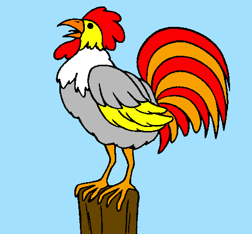 Dessin de Coq chantant colorie par Membre non inscrit le ...