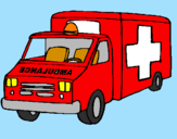Coloriage Ambulance colorié par tom
