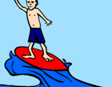 Coloriage Surf colorié par xClaraa