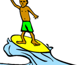 Coloriage Surf colorié par alan