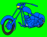 Coloriage Moto colorié par hugo