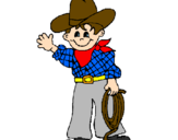 Coloriage Petit cow-boy colorié par lony