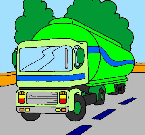Dessin de Camion citerne colorie par Membre non inscrit le ...